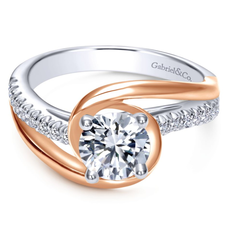 Two Tone Engagement Rings New Bridal Trends Bernie Robbins