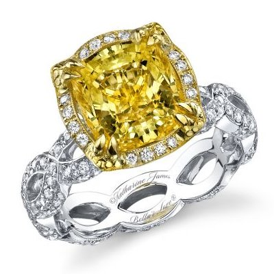 Yellow Diamond Engagement Ring